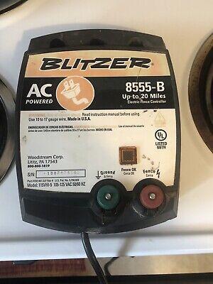 Blitzer Model 8555-b Electric Fence Controller 20 Miles Horses Cows Garden Pests