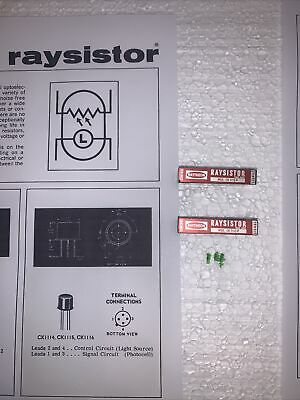 Qty(2)Raytheon Raysistor CK1112P NEw Photoresistor .