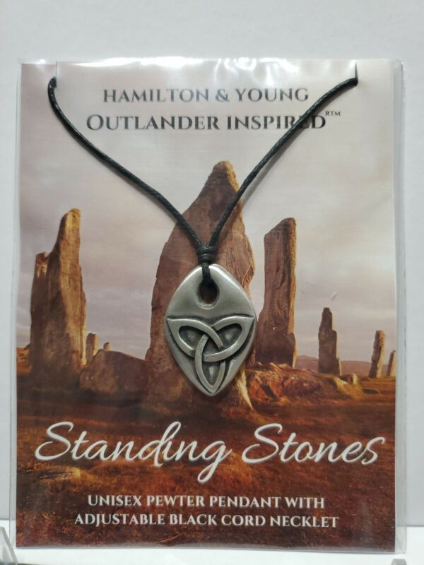 Outlander Inspired Hamilton & Young Standing Stones pewter pendant New in Bag
