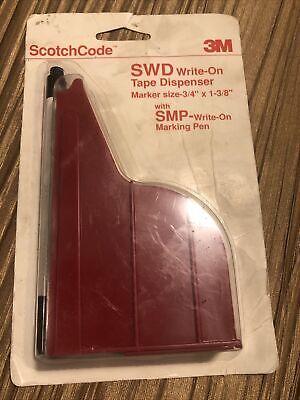 Nip 3m Scotchcode 11954 Wire Marker Write-on Dispenser Swd 34x1-38