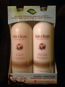 Live clean shampoo and conditioner $25