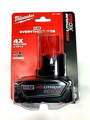 Milwaukee 48-11-2460 M 12 RedLithium XC Battery Pack