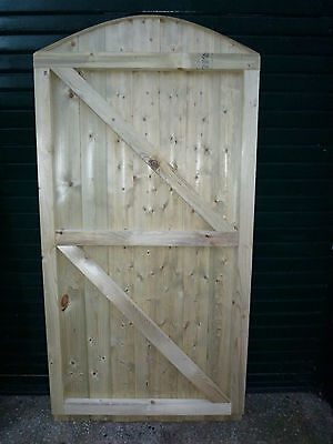 Convex Barrel Board Framed Garden Gate. 6ft  high x up to 4ft wide (Curved top)