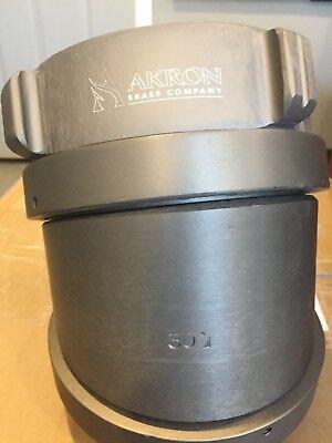 Akron Brass Fire Hose 4-12 Nh Rocker Lug 30 Degree Elbow Swivel Adapter