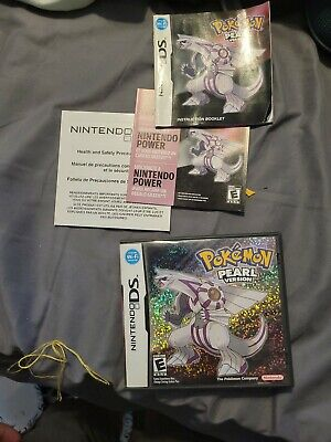 Nintendo DS Pokemon Pearl Version Case/Manual Only Authentic NO GAME