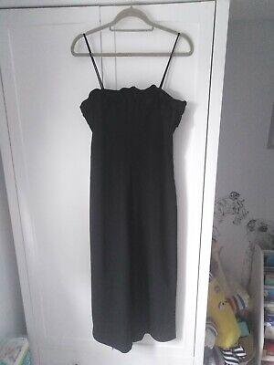Zara Black Ruffle Jumpsuit Size Medium