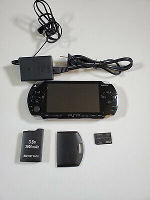 SONY PSP 1000 1001 B2 Playstation Portable TESTED; NEW BATTERY;