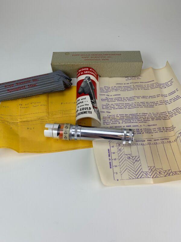 Antique Vintage Medical Surgical Kopp Gould Hemoglobinometer Box Instruction NOS