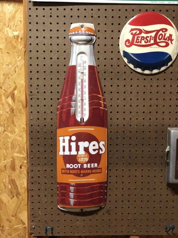 "Original Hires Root Beer Thermometer 28.5"" x 8"""