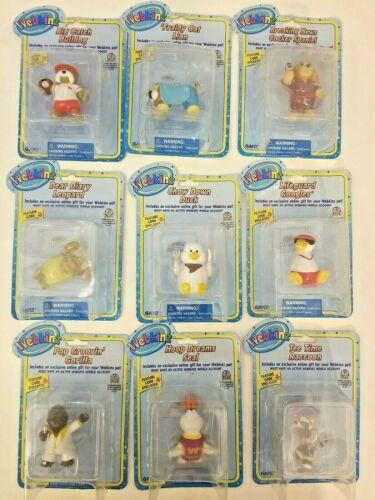 Webkinz Series 2 mini-figures - lot of 9 Different figurines New