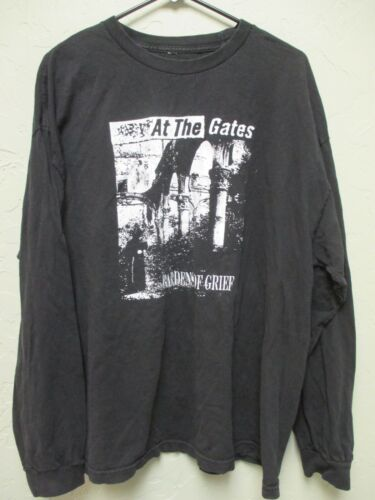 Vintage- AT THE GATES (Size XL) Long Sleeve T-Shirt GARDENS OF GRIEF Death Metal