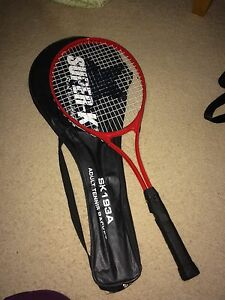 Gently used racket with case