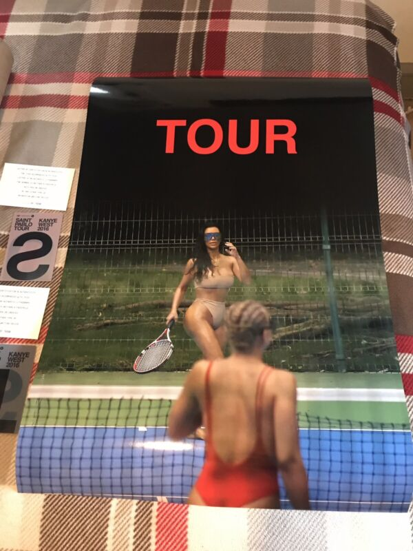 Kanye West Saint Pablo Tour Limited Vip Poster Kim Kardashian 24x36