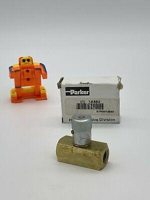 Parker N400b Inline Needle Valve Series N Open Box