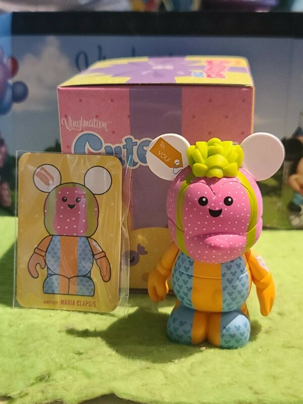 """DISNEY Vinylmation 3"""" Park Set 2 Cutesters Too with Box and Card Present Gift"""