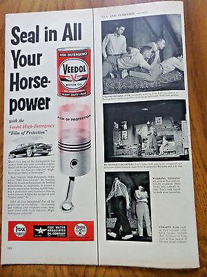 1953 Veedol Motor Oil TYDOL Ad  Seal in All Your Horse-Power