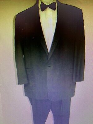 Brooks Brothers Black Notch Lapel One Button Tuxedo 52XL Black Notched One Button Tuxedo