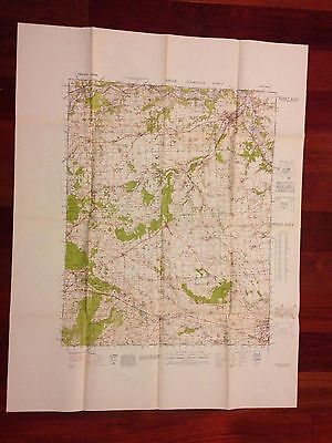 WWII FRANCE DREUX COURVILLE  MILITARY WAR MAP 1943 REPRODUCED STAFF COLLEGE 1946