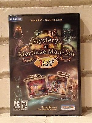 Computer Games - mystery of mortlake mansion + 2 bonus - 3 mystery adventure computer games - new