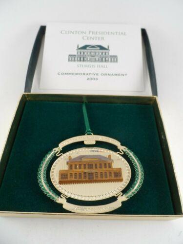 Clinton Presidential Center Sturgis Hall Commemorative Christmas Ornament