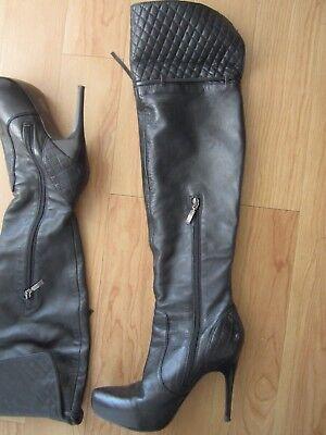 Overknees Stiefel von Guess mit hohem Absatz, Gr.38, schwarz