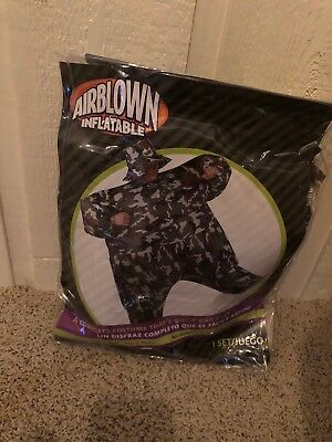 Inflated Halloween Costume (Adult Inflatable Camouflage Camosuit Army Mens Camo Suit Halloween Costume)