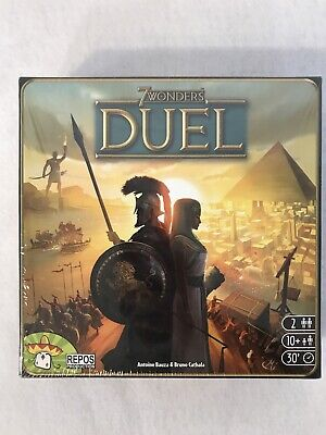 7 WONDERS DUEL ~ Award Winning 2 Player Strategy Board Game NEW FACTORY SEALED