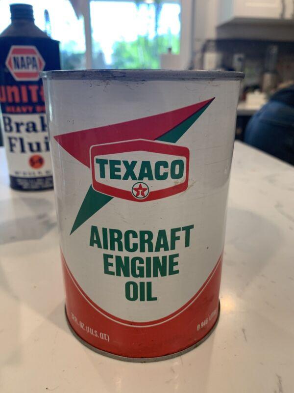 Vintage Texaco Aircraft Oil Can FULL!