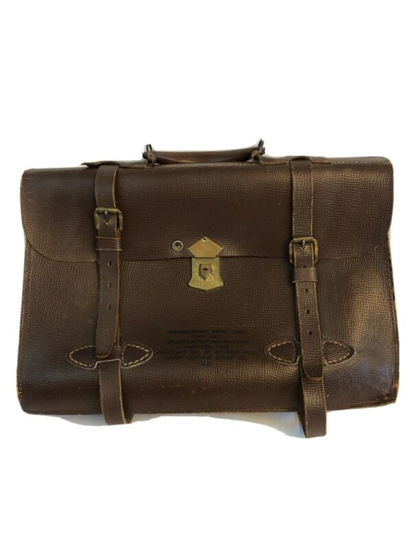Type MB-1 Navigation Brief Case WW2 US Merit Leather Strap Company