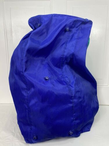 RARE HTF Vtg 80s Sasson Colorblock Gymbag Overnight Travel Weekender READ - $34.50