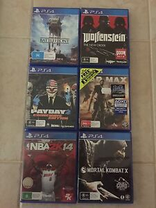 6 x PlayStation 4 games Tapping Wanneroo Area Preview