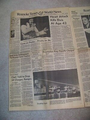 August 17  1977 Roanoke Times   World News Heart Attack Kills Elvis At Age 42