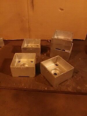 4x4 Base (Post Base,Anchored 4x4 Heavy Cast Aluminum MADE IN THE USA ( 5 COUNT) FREE SHIP!)