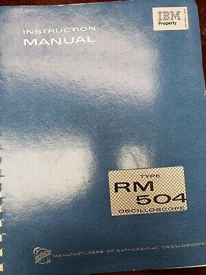 Tektronix Type 504 Rm Oscilloscope Instruction Manual