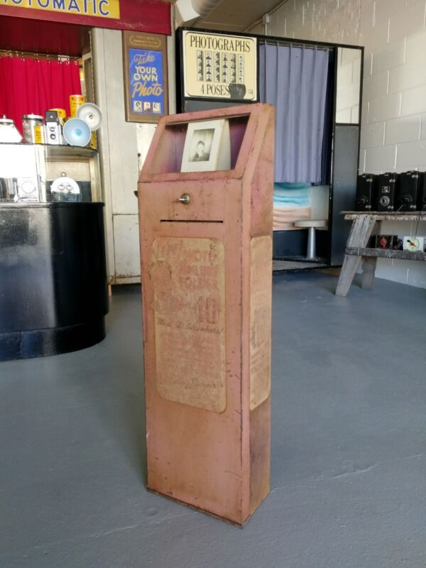 RARE mutoscope photomatic photobooth envelope vending dispenser fotomat machine