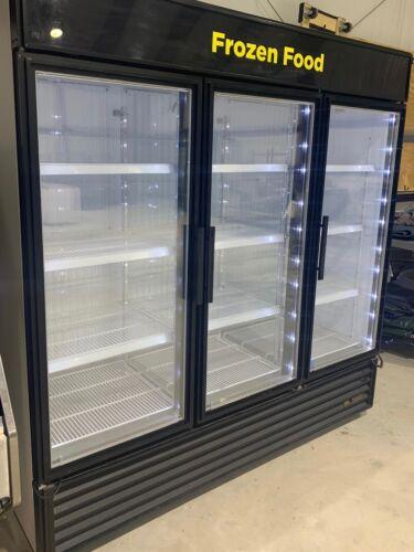 True GDM-72F-LD Glass 3 Door Merchandiser Commercial Freezer