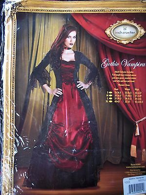 In Character Women Lady Gothic Vampira Vampire Dracula Halloween Costume small (Dracula Costumes For Women)