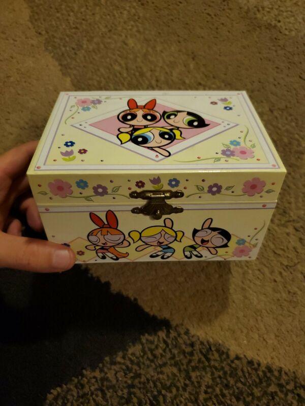 Vintage Powerpuff Girls Musical Jewelry Box - Cartoon Network - 2001 - Fur Elise