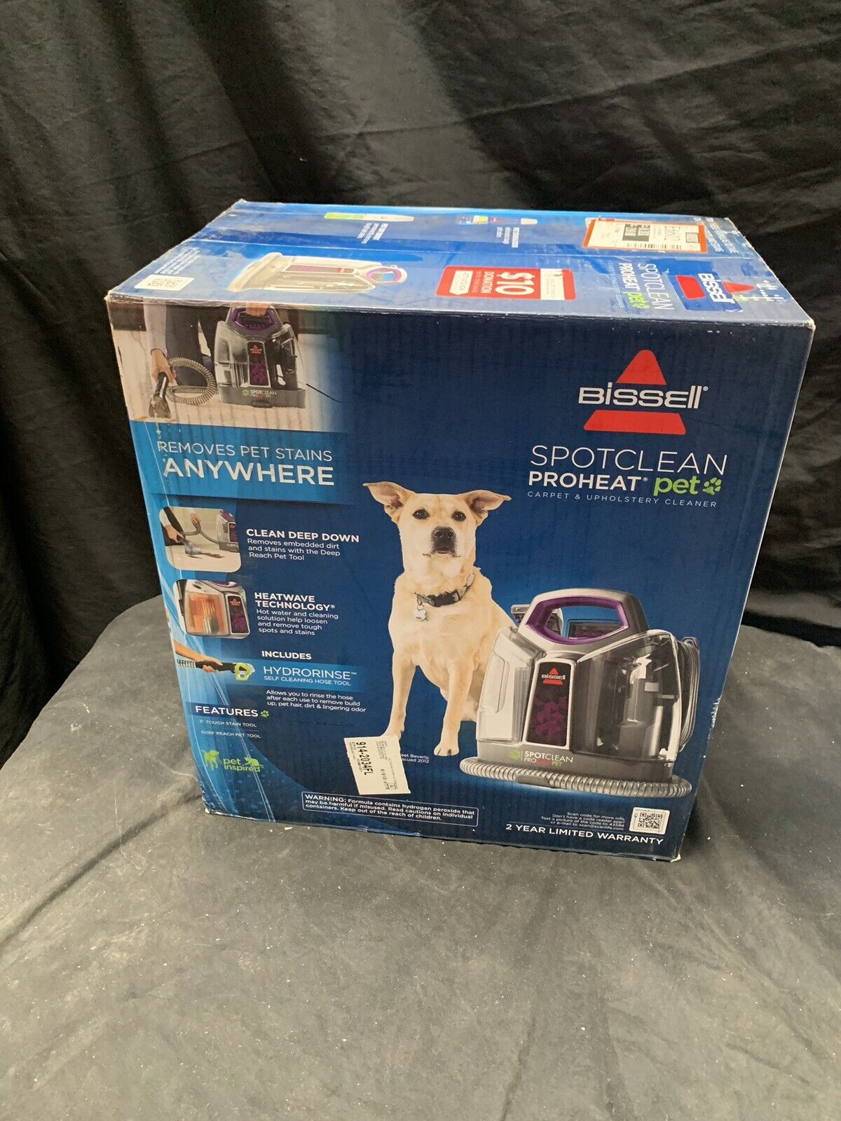 Details About Bissell Spotclean Proheat Pet Portable Carpet Cleaner 6119w