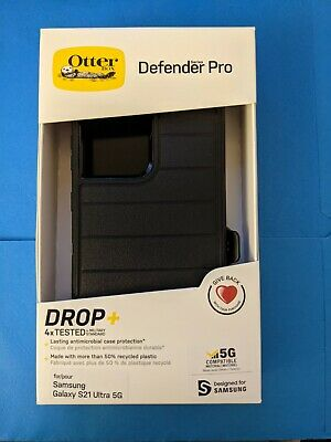 NEW Otterbox Defender Pro Series Case Holster Black Samsung Galaxy S21 Ultra 5G