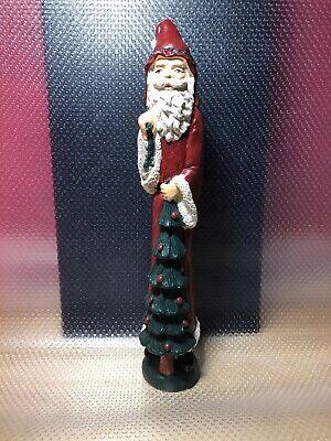 Skinny Santa Claus Candlestick Figurine Old World Style Christmas Tree Toy Sack