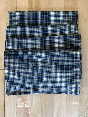 Country curtains Set Of 4 Valances Blue Plaid