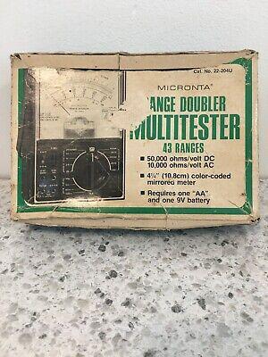 Vintage Micronta Range Doubler Multitester 43 Ranges 50000 Ohmsvolt Dc 22-204u