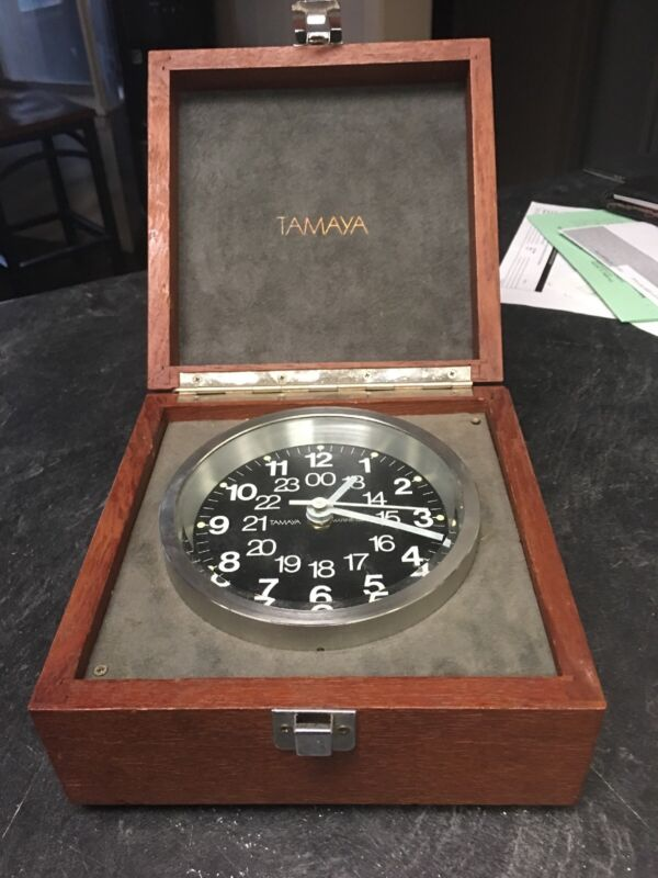VINTAGE TAMAYA QUARTZ SHIP BOAT YACHT MARINE CHRONOMETER MARITIME DECK WATCH