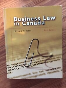 Business Law In Canada Textbook