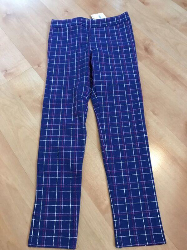 Janie And Jack Plaid Striped Legging Pants NWT Size 8