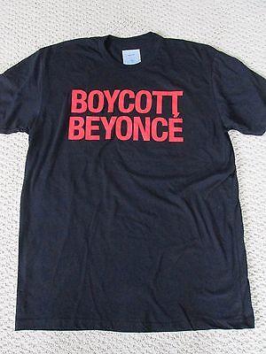 New Authentic Beyonce Formation World Tour Merch BOYCOTT BEYONCE Tee Shirt Sz L
