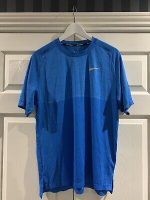 Nike Dri Fit Knit Tee - Blue - Large