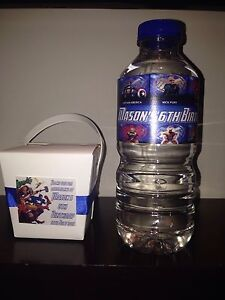 Avengers water bottles, favour boxes personalised for birthday parties Penrith Penrith Area Preview