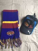 Brisbane Lions scarf and hat Castlemaine Mount Alexander Area Preview